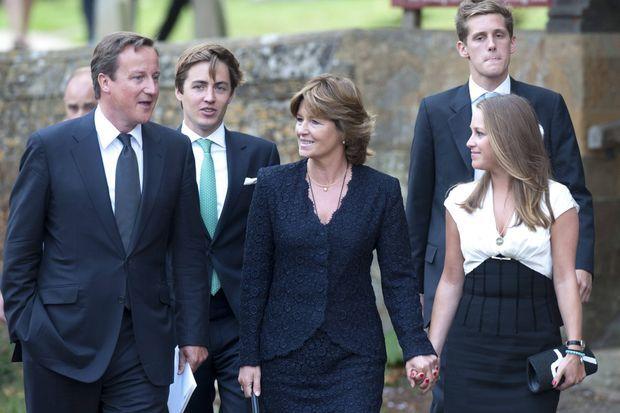 Nikki Shale avec ses enfants et David Cameron, le 31 août 2011