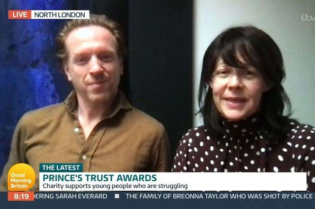 Damian Lewis et Helen McCrory en mars 2021