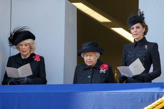 La reine Elizabeth II lors de la cérémonie du Remembrance Sunday, le 10 novembre 2019