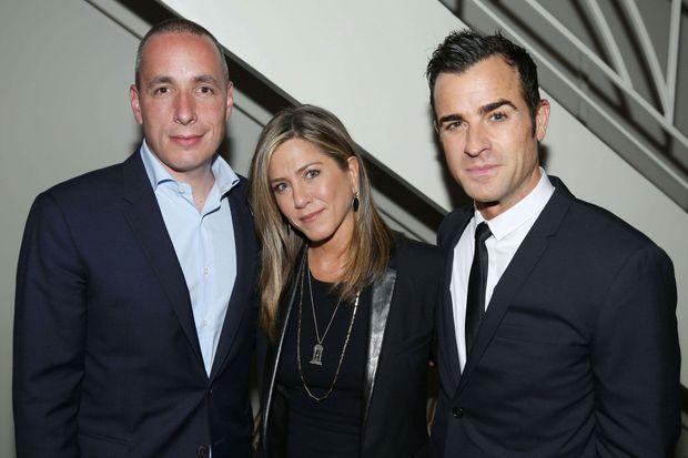 """Avec Dan Peres, le rédacteur en chef de """"Details"""", mardi soir."""