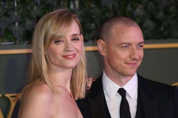 Anne-Marie Duff et James McAvoy en novembre 2015, quelques mois avant leur séparation