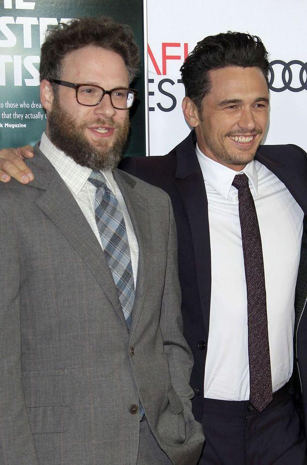 """Seth Rogen et James Franco fin 2017 lors de la première du film """"The Disaster Artist"""" à Los Angeles"""
