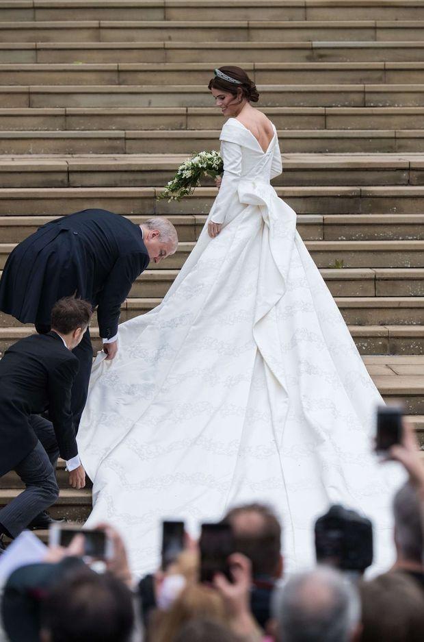La princesse Eugenie d'York le jour de son mariage, le 12 octobre 2018