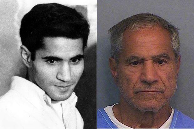 Sirhan Sirhan en 1968, puis en 2016.