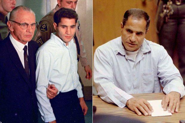 Sirhan Sirhan en juin 1968 puis en juin 1997, lors de sa dixième demande de remise en liberté.