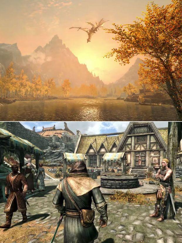 """Images tirées de """"The Elder Scrolls V : Skyrim""""."""