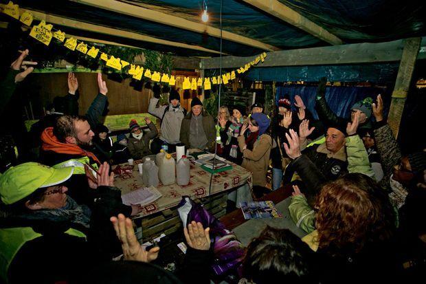 Commercy (Meuse), le 13 janvier. Démocratie directe au QG des gilets jaunes qui sont à l'origine de «l'assemblée des assemblées» du 26 janvier.
