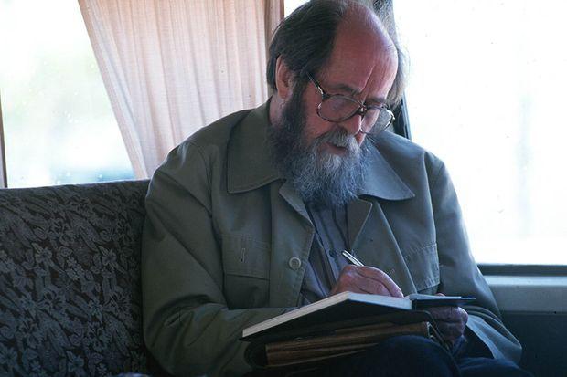 Alexandre Soljenitsyne à Vladivostok, le 30 mai 1994.