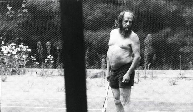 Soljenitsyne dans sa résidence du Vermont.