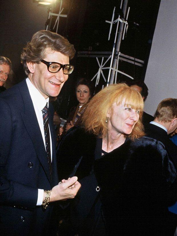 Sonia Rykiel et Yves Saint-Laurent en 1983