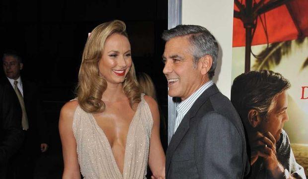 Stacy Keibler et George Clooney -
