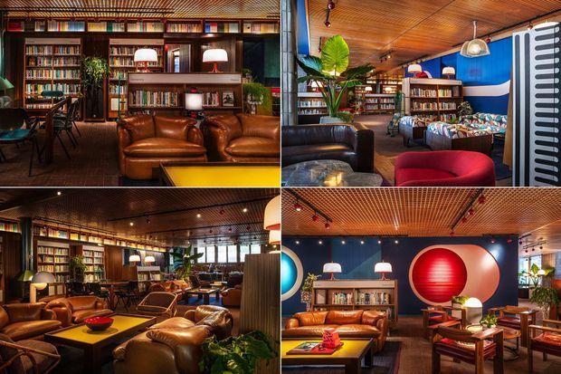 Le Library Lounge, au sein du Standard.