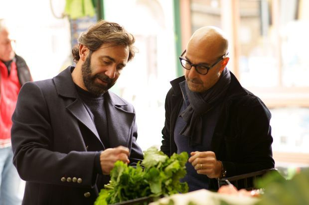 Stanley Tucci et Daniele De Michele à Rome.