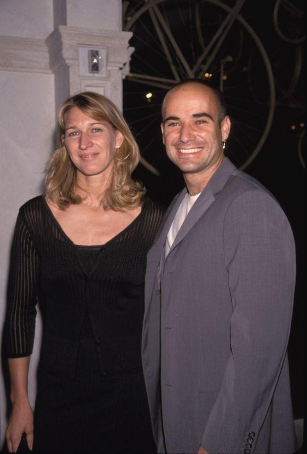 Steffi Graf et Andre Agassi en septembre 1999.