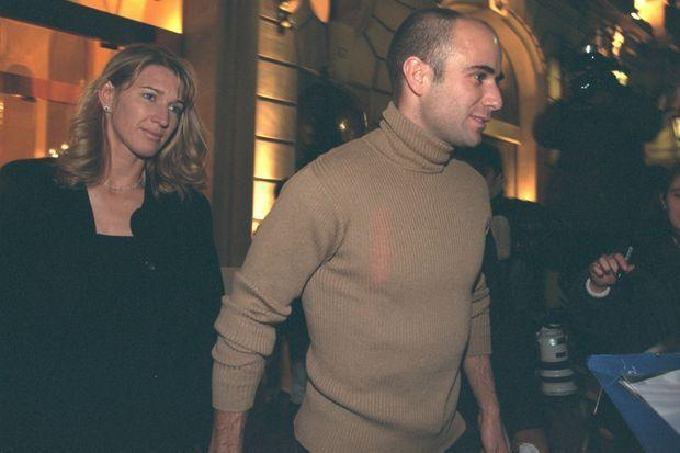 Steffi Graf et Andre Agassi à Paris en novembre 1999.