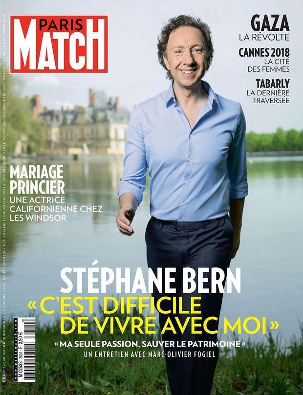 Stéphane Bern en couverture de Paris Match n°3601.
