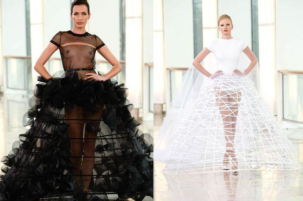 Stéphane Rolland présentait sa collection Haute Couture mardi.