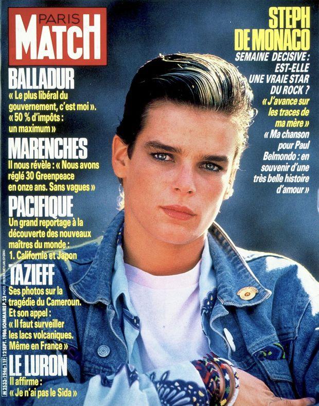Stéphanie de Monaco, en couverture du Paris Match n°1946, daté du 12 septembre 1986