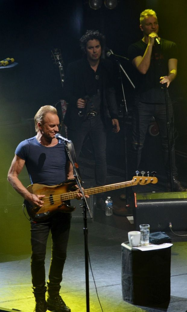 Sting était à Paris mercredi soir.