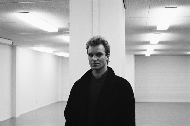 Sting à Paris en 1985.