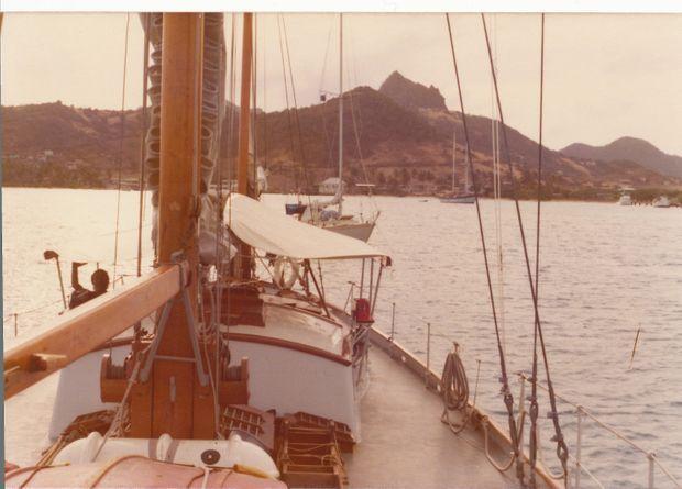 Sur l'Askoy en 1975.
