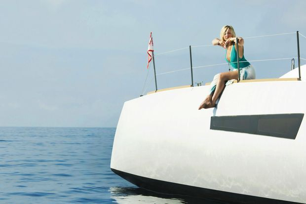 Sur le chemin du retour après une journée de catamaran… « électrique », précise Flavie.