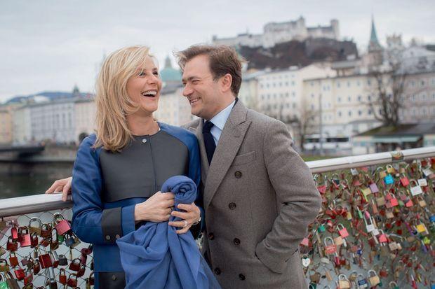 Sur le pont Makarteg à Salzbourg, le rendez-vous obligé des amoureux.