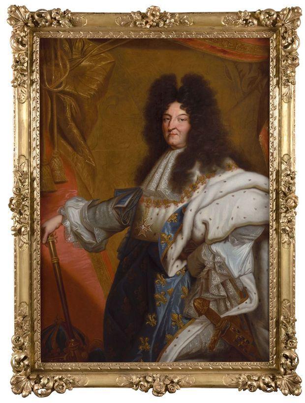 Portrait de Louis XIV en tenue de sacre par l'entourage de Rigaud, en vente chez Osenat le 23 novembre 2019