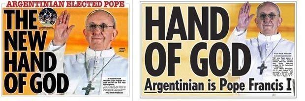 tabloïds pape doublon