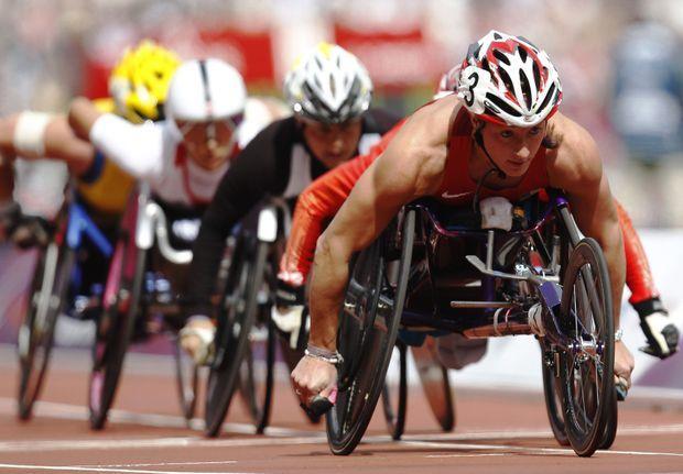 Tatyana aux Jeux paralympiques de Londres.
