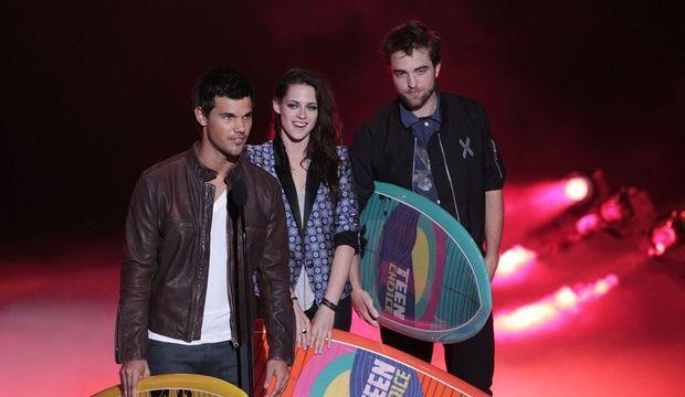 Taylor Lautner, Kristen Stewart et Robert Pattinson -