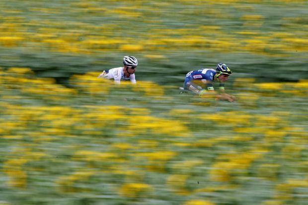 Elie Gesbert et Yoann Offredo, les deux échappés de l'étape Périgueux-Bergerac