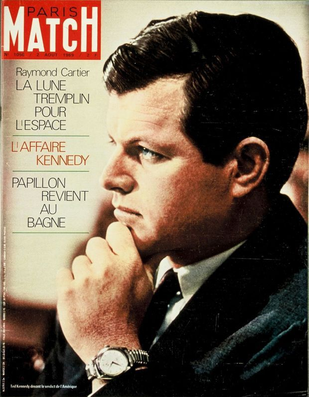 Ted Kennedy en couverture de Paris Match n°1056, daté du 2 août 1969.