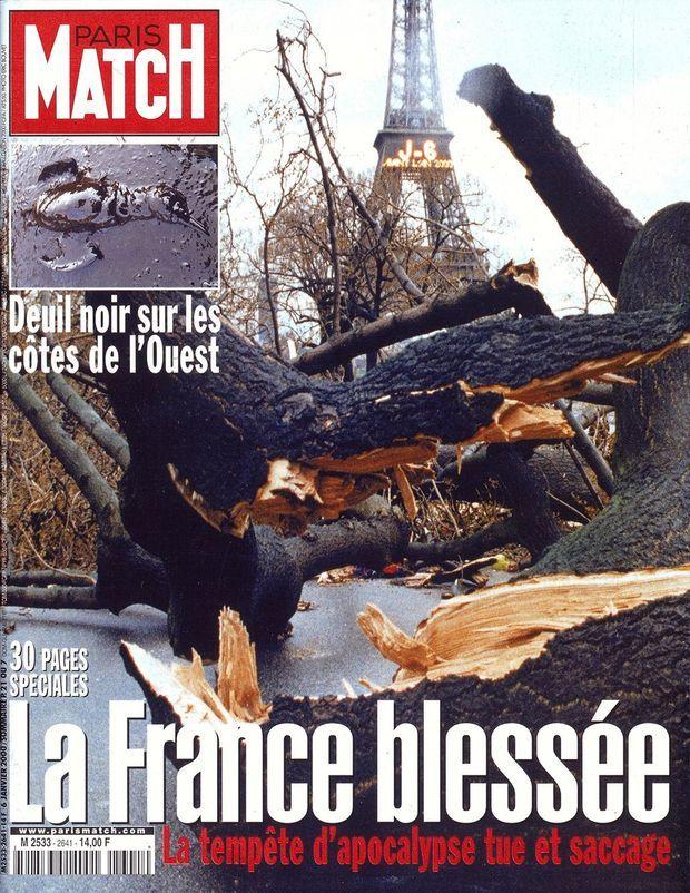 « La France blessée » en couverture Paris Match, n°2641, daté du 6 janvier 2000.