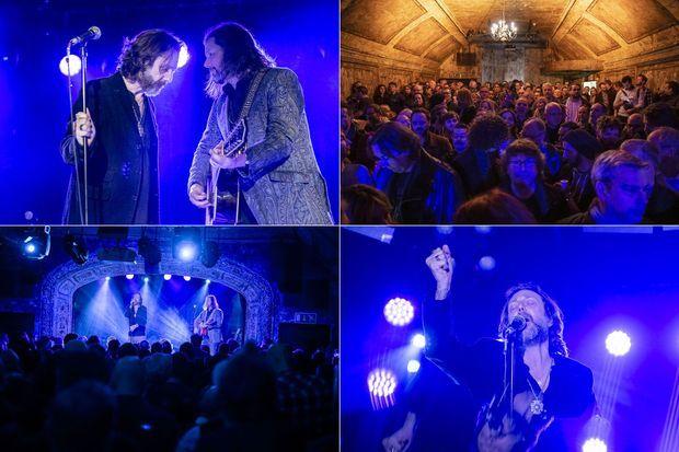 The Black Crowes, mercredi soir sur scène à Londres.
