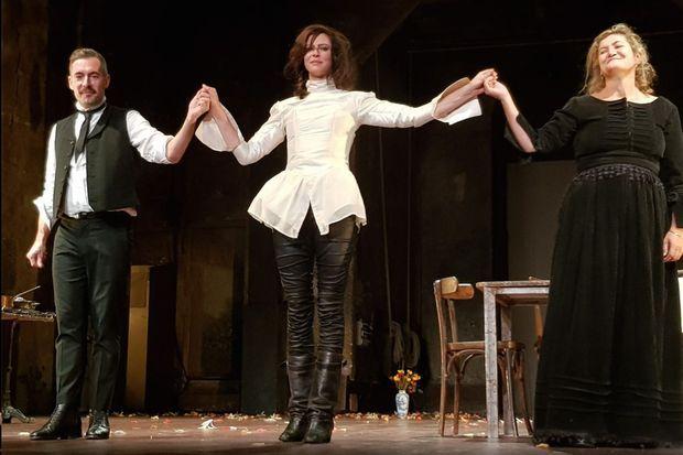 Xavier Legrand, Anna Mouglalis et Julie Brochen.