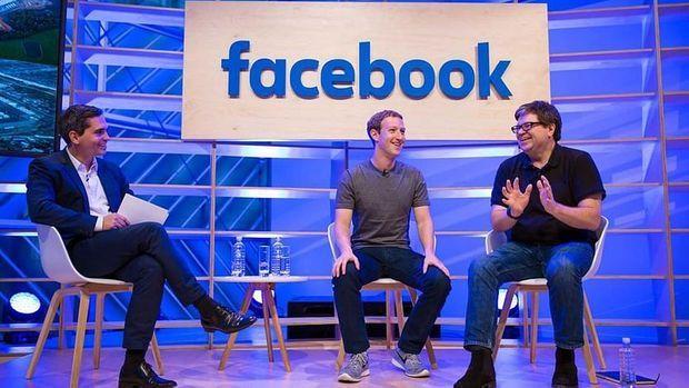 Yann LeCun au côté de Mark Zuckerberg.