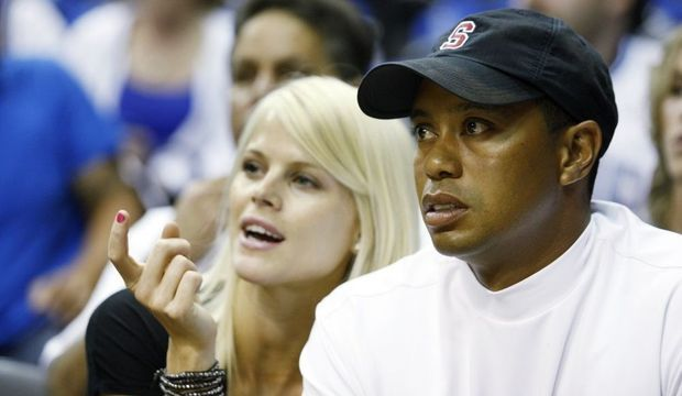 Tiger Woods et Elin Nordegren-