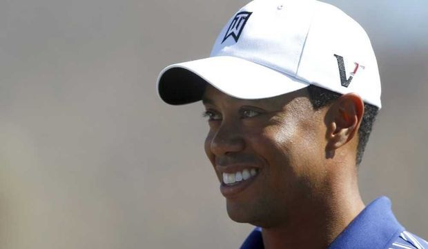 Tiger Woods souriant-