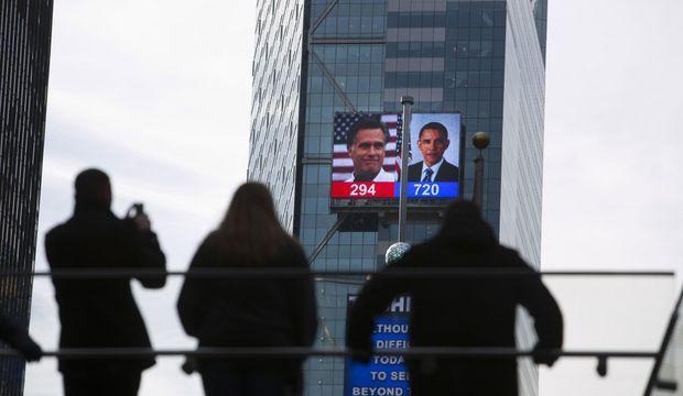Times Square Obama Romney New York-