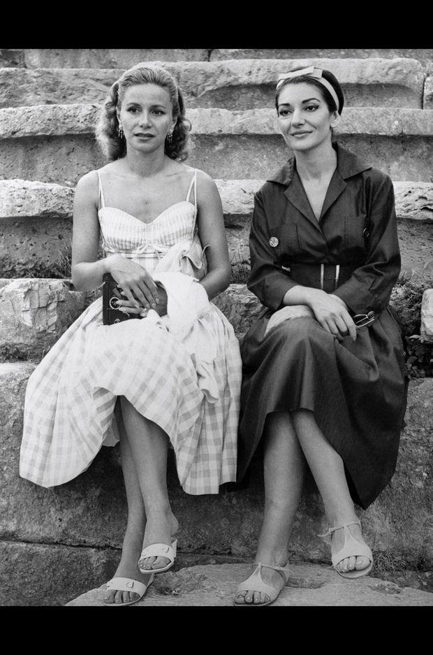 Athina Onassis et Maria Callas en 1959.