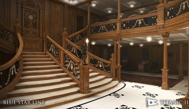 Titanic 2 grand escalier