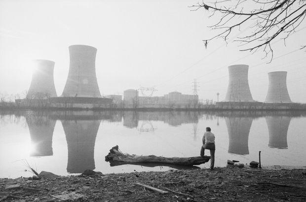 La centrale nucléaire de Three Mile Island, deux jours après l'incident.