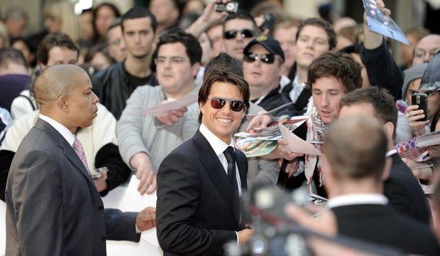 Tom Cruise foule-
