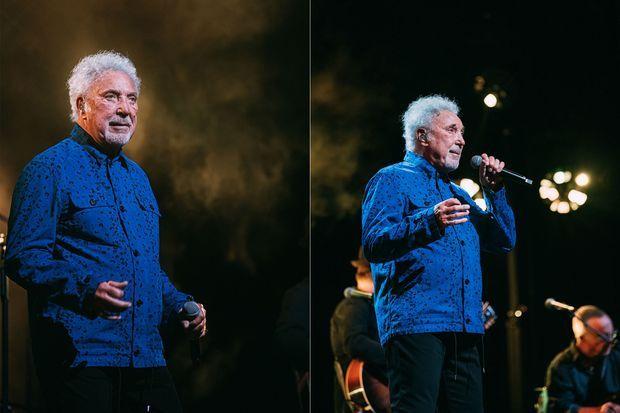 Tom Jones, mercredi soir, au Grand Rex à Paris.