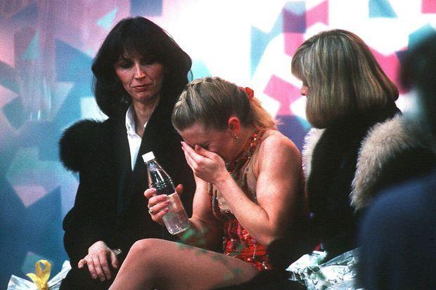 Tonya Harding après son programme raté lors des JO de 1994.