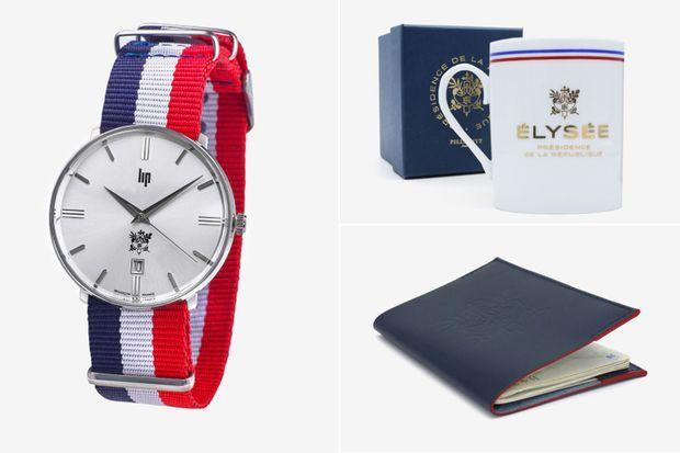 Le top 3 des meilleures ventes : la montre Lip, le mug et le porte-passeport.