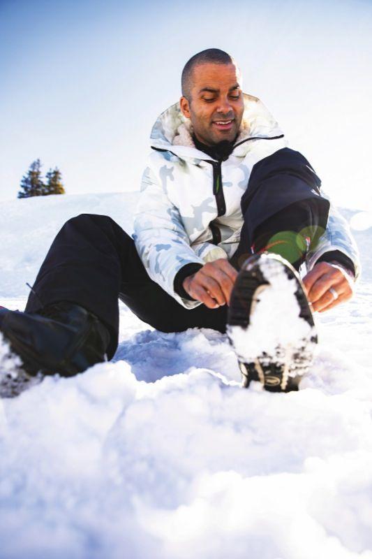 «J'aime respirer le grand air. Les longues marches dans la neige», s'enthousiasme la star du basket.