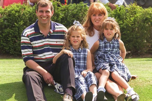 Rien de plus important pour Eugenie que la famille, ici en 1996