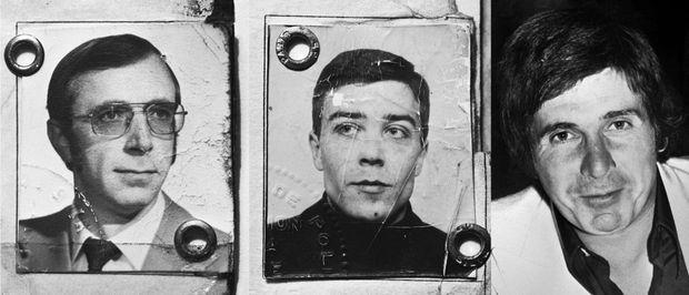 """Trois des ravisseurs du baron Edouard-Jean Empain, de gauche à droite : Daniel Duchateau, abattu lors de la fusillade avec la police, le vendredi 24 mars 1978 ; Alain Caillol, qui était jusqu'alors inconnu des services de police ; et Georges Bertoncini, dit """"Joe le marseillais"""", locataire du pavillon de Savigny sur Orge, dernier lieu ou le baron Edouard-Jean Empain a été séquestré."""